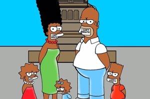 Foto: Los Simpsons y aleXsandro Palombo dicen NO al racismo (ALEXSANDRO PALOMBO )