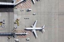 Vista aérea de un avión