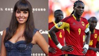 Manitas y abrazos entre Cristina Pedroche y Manucho, jugador del Rayo Vallecano