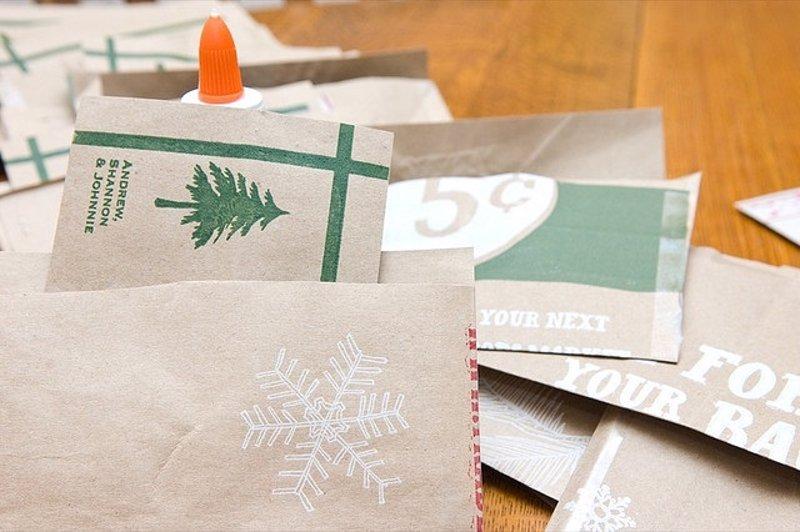 15 ideas para hacer postales de navidad originales a mano - Hacer tarjetas de navidad originales ...