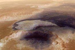 Foto: VÍDEO. Cráter Becquerel, la Arabia de Marte (ESA)