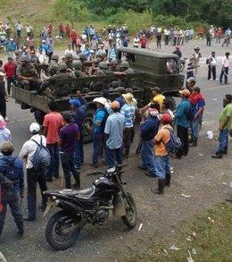 """Foto: PLI acusa a Ejército nicaragüense de """"intimidar"""" a opositores al Canal (FACEBOOK)"""