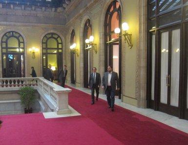 """Foto: Mas,  satisfet de la reunió amb Junqueras: """"Ha anat bé"""" (EUROPA PRESS)"""