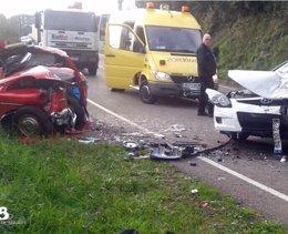 Foto: Muere un hombre en un accidente de tráfico en Soto del Barco (SEPA)