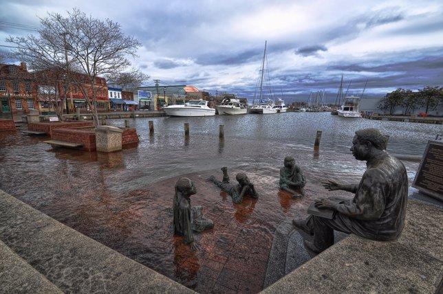 Inundación por marea alta