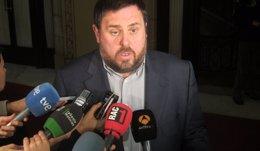 """Foto: Junqueras pide no """"embarrancarse"""" en la propuesta de lista única (EUROPA PRESS)"""