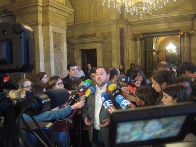 """Foto: 9N.- Junqueras demana no """"embarrancar-se"""" en la proposta de llista única (EUROPA PRESS)"""