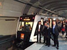 Foto: La línia L7 d'FGC estrena els nous trens de la sèrie 114 (GENERALITAT DE CATALUNYA)