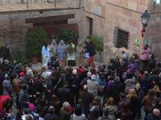 Foto: Arrenca la segona edició de la mostra de pessebres vivents al Poble Espanyol (POBLE ESPANYOL)