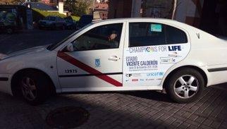 Els taxistes madrilenys se sumen a la lluita contra l'Ebola del II Champions for Life
