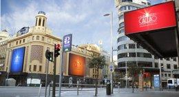 Foto: El Sorteo de Navidad se retransmite en directo en las pantallas gigantes de Callao City Lights de Madrid (CEDIDA)