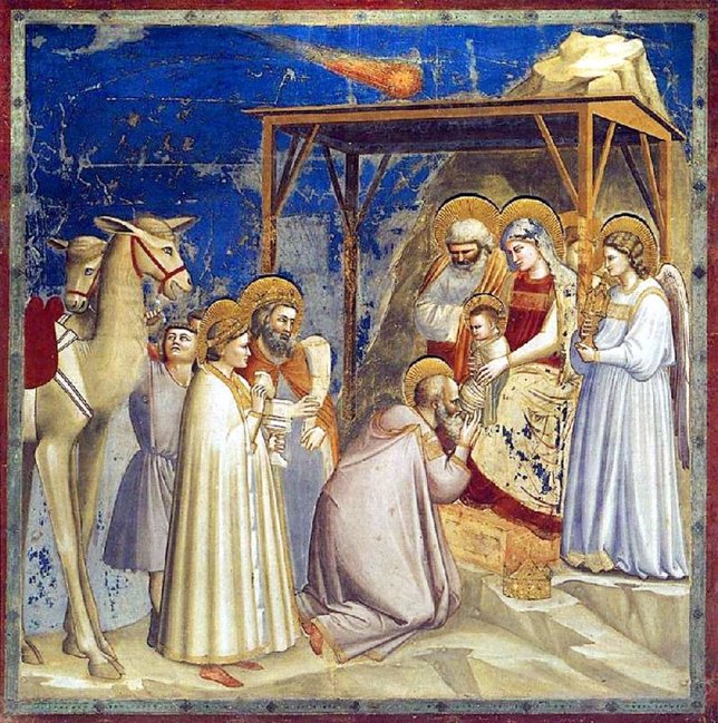 Adoración de los Reyes Magos, Giotto