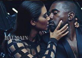 Kim Kardashian y Kayne West protagonizan la nueva campaña de Balmain