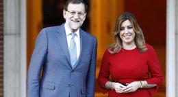Foto: Susana Díaz acuerda con Rajoy evaluar las prioridades andaluzas para el plan Juncker (EUROPA PRESS)