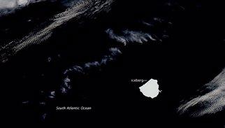 Un iceberg como Valencia sin nombre vaga por el Atlántico Sur