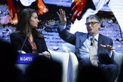 Bill Gates y Melinda Gates en foro de Davos 2015