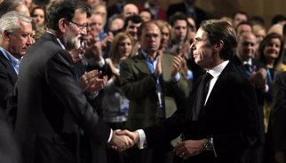 Aznar reapareix a la clausura de la Convenció del PP per escoltar Rajoy, dos dies després d''agitar' el partit
