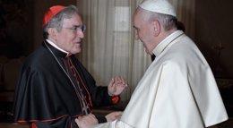 Foto: El Papa recibe a Sistach en una audiencia privada en el Vaticano (ARZOBISPADO DE BARCELONA)
