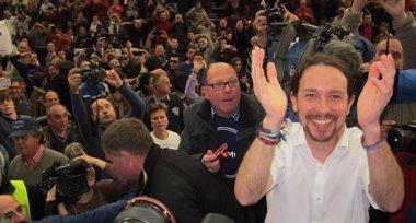 """Foto: Pablo Iglesias dice que Podemos asume """"el reto de ser el adversario electoral del PP"""" (EUROPA PRESS)"""