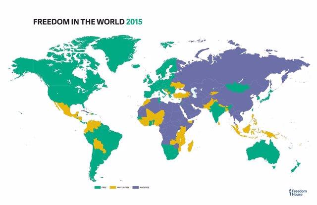 Foto: La libertad en el mundo, en retroceso por noveno año consecutivo