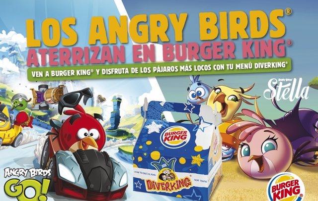 Foto: Angry Birds Go! y Angry Birds Stella aterrizan en Burger King (BURGER KING)