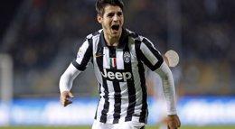 Foto: Morata mete a la Juventus en semifinales de Copa (GIAMPIERO SPOSITO / REUTERS)
