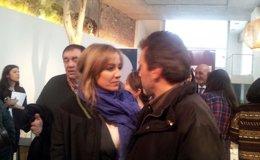 Foto: Tania Sánchez y Mauricio Valiente acuden a apoyar el acuerdo de Podemos y Ganemos para las municipales en Madrid (EUROPA PRESS)