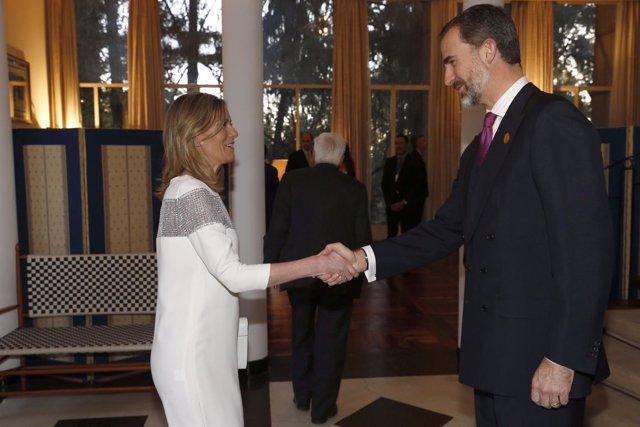 Foto: La consejera de Bienestar asturiana, en una recepción de Felipe VI en Etiopía