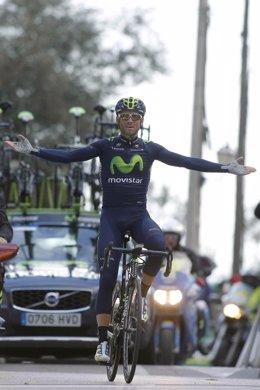 Foto: Valverde estrena el casillero de victorias en 2015 con el Trofeo Serra de Tramuntana (MOVISTAR)