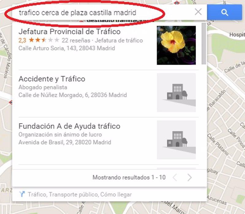 5 sencillos pasos para consultar el tr fico en google maps - Jefatura provincial de trafico de badajoz ...