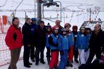 Laureano León en la estación de esquí 'La Covatilla'