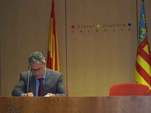 Pedro Viguer durante la rueda de prensa