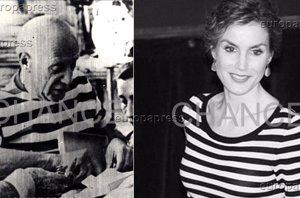 Foto: Reina Letizia: el guiño a Pablo Picasso con camiseta de rayas marineras (CHANCE)