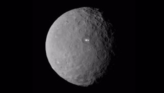 Brillos que parecen luces en el miniplaneta Ceres