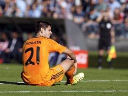"""Foto: Ancelotti: """"Creo que Morata se quedará en la Juventus"""" (MIGUEL VIDAL / REUTERS)"""