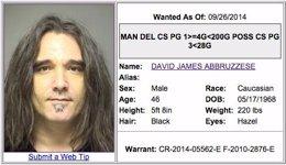Foto: La policía de Texas busca al exbaterista de Pearl Jam Dave Abbruzzese por posesión de drogas (DENTON COUNTY CRIME STOPPERS)