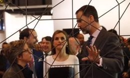 Foto: Los Reyes exhiben su afición por el arte en la inauguración de ARCO (TWITTER DE LA CASA REAL)