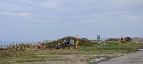 Obras de la senda costera
