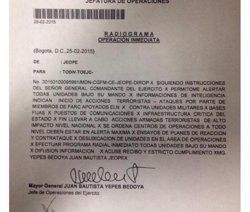 Foto: Colòmbia.- Polèmica a Colòmbia després de filtrar Uribe un document de l'Exèrcit sobre plans d'atacs de les FARC (TWITTER)