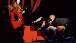 Madonna s'estimba als Brit Awards