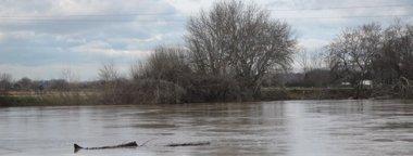 """Foto: Vecinos de Novillas preocupados porque el agua """"sigue subiendo"""" (EUROPA PRESS)"""