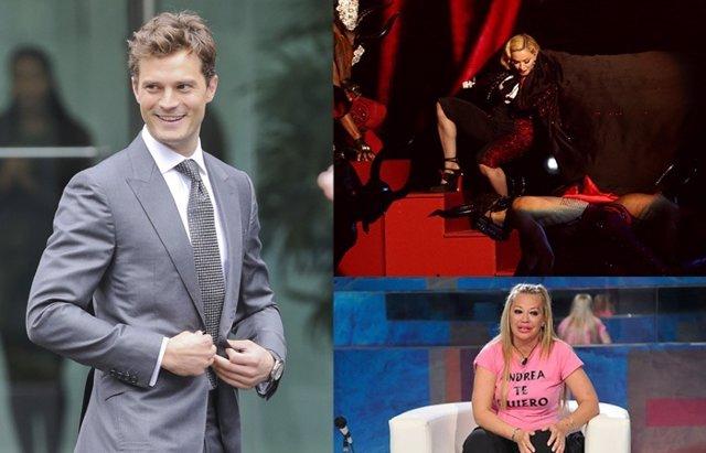 Foto: Muere Leonard Nimoy, Jamie Dornan adiós a '50 sombras' y la caída de Madonna y Belén Esteban (GETTY//TELECINCO)