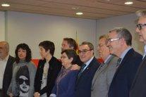 Marta Camps (tercera por la izquierda) con Àngel Ros (Archivo)