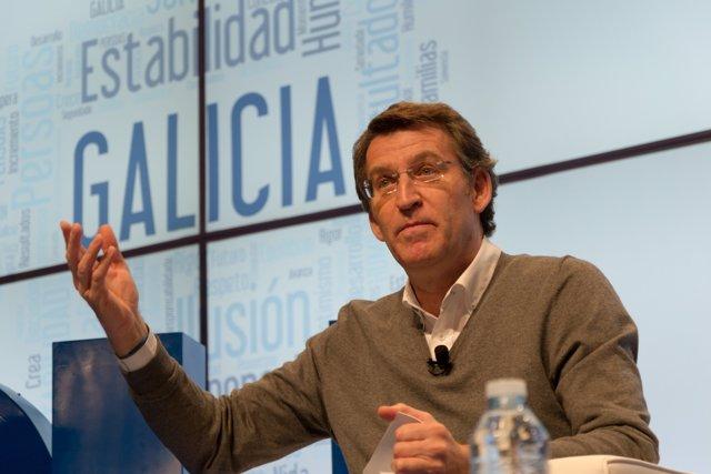 "Foto: Feijóo critica la ""inestabilidad"" de PSOE, IU o Podemos"