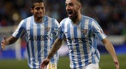 Foto: Fútbol/Liga BBVA.- (Crónica) El Málaga se asoma a Europa y Bueno fulmina al Levante con un póquer de goles (LFP)