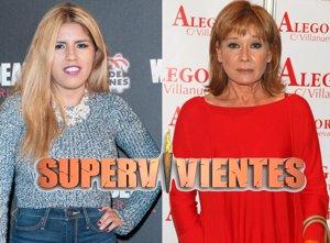 Foto: Chabelita y Mila Ximénez, concursantes estrella de Supervivientes 2015 (CORDON PRESS)
