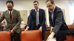Foto: Dirigentes del PSOE actualizan sus declaraciones y precisan al Congreso que no cobran por sus tareas extraparlamentarias (EUROPA PRESS)
