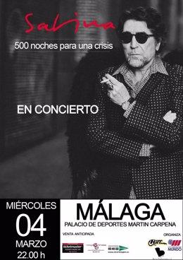 Foto: Sabina llega a Málaga el próximo miércoles con sus '500 noches para una crisis' (EUROPA PRESS/ESPECTÁCULOS MUNDO)