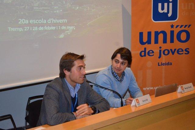 """Foto: Las juventudes de UDC avisan a ERC y a ICV de que no pueden darles """"ninguna lección"""""""