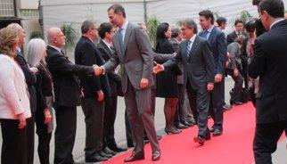 El Rei inaugura el X Mobile World Congress al costat d'Artur Mas